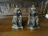 Decorative Metal bookends (very heavy!). 16