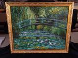 Monet's Garden-oil on canvas