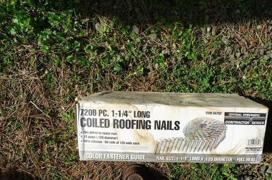 "Box Coiled Roofing Nails-1.25"" long"