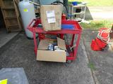Metal Rolling cart-with contents (CDs, Movies)