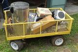 Metal wagon and contents=4'x2'