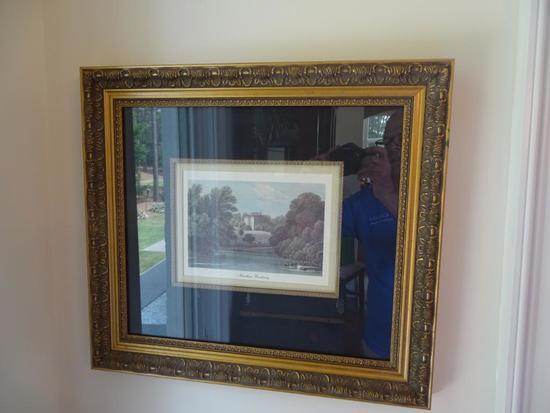 """2 pictures -Warwich Castle & Nuneham Courtnay-21.5"""" x 19"""""""