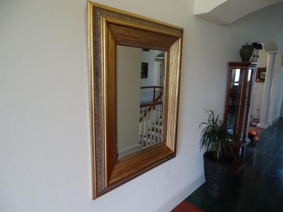 """Mirror-wood/gold tone-41"""" wide x 55"""" tall"""