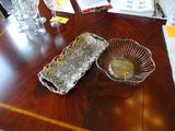 Godinger Silver Art Co. tray and bread basket