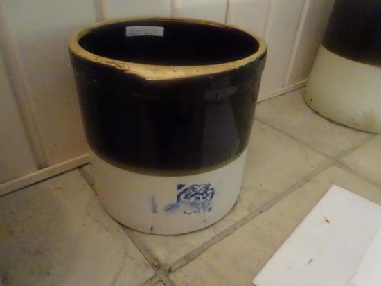 Miller Pottery-Cobalt Blue, 3 gallon, Alabama, 4 leaf clover.