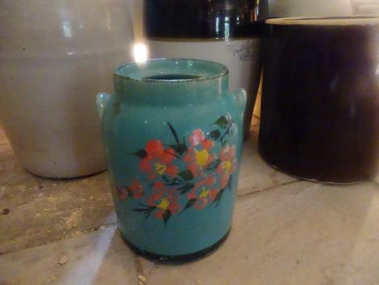 1 GAL Churn, Hall China & Pottery, White Hall, IL. for Jewel Tea Co.- early 1900s, no lid