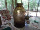 Large Glass jug-Eagle on sides