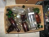 5 boxes assorted bottles-some vintage soda and liquor bottles