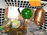 Misc. Box Lot-Paperweights, etc.