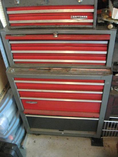 "Craftsman Tool Box-43"" tall x 26"" wide x 20"" deep. Does NOT include tools."