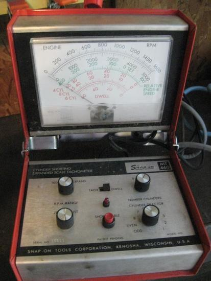 Snap-On Model 460, Cylinder Shorting Tachometer plus all cords.