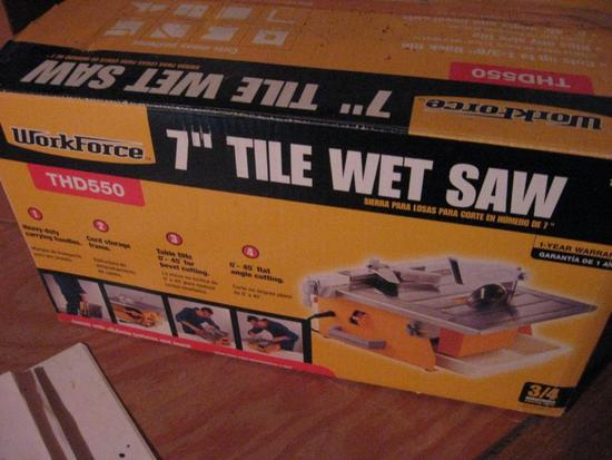 "Workforce 7"" Tile Wet Saw-box never opened!"