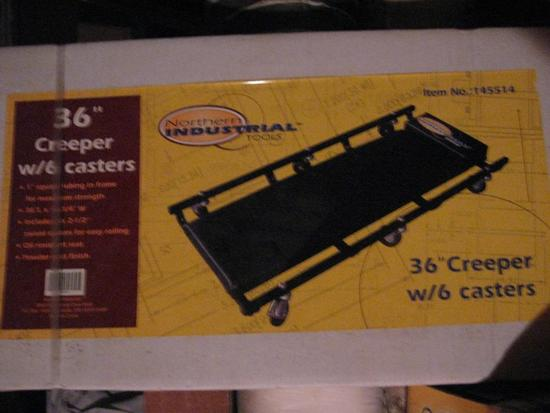 "36"" Creeper w/6 casters-Northern Industrial-never used!"
