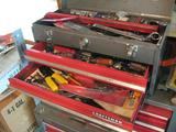 Small Craftsman Tool Box-Full of tools! Includes socket wrenches, wrenches, screwdrivers, snips.