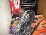 Long nose pliers, vise grips and wrench sets