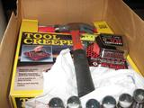 Hammer, Screwdrivers, Bits, Nut drivers, Tool Creeper, Locking Tape