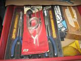 Tools for working on Cars-Vise Grips & Pliers, Chisels, Clamps, Dial Gauge, Belt Tightener