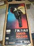 7 IN. 1 1/2 HP Sander-Polisher w/ Reverse power, 2 speed control-never used!