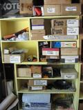 Several Rows of items - Car parts: jumper cables, spring clamps, ext cords, timers,