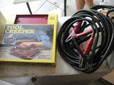 2 sets jumper cables & Tool Creeper-never used