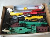 Box of misc. cars and parts