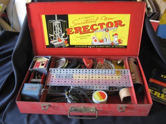 Vintage Erector Set-No. 7 1/2 Engineer Set w/ manual