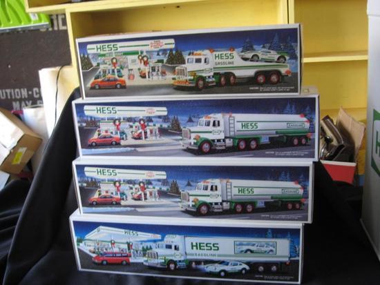 Hess Toy Tanker Trucks (2), Hess Toy Truck & Racer, Hess 18 Wheeler & Racer