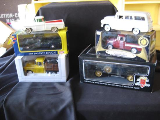 6 Vehicles!-'57 Chevy Truck, '41 Plymouth Truck, Chevrolet Pick up, '31 Ford Model A,