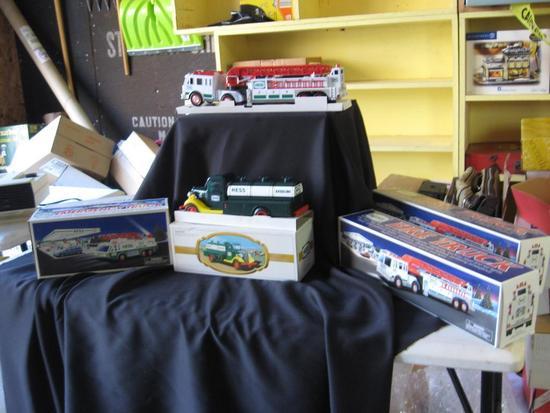 Hess Fire Trucks (3), Hess Emergency Truck (1), Hess Gasoline Trucks (2)