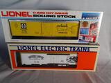 Southern Comfort Billboard Reefer, 6-9834 & Famous American Railroad Series ATSF Box Car, 6-7712