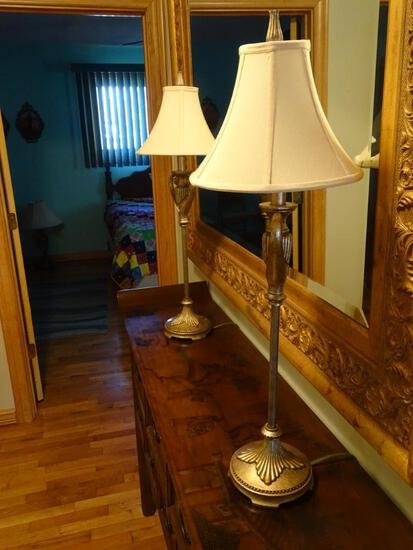 "2 lamps-34"" tall"