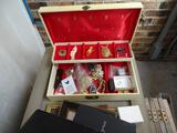 Costume jewelry & box