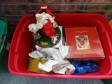 Fabric Mache Santa and other Santas