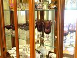 Purple glassware-8 glasses, 6 sherbert
