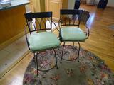 2 heavy bar stools-heavy wrought iron, 38