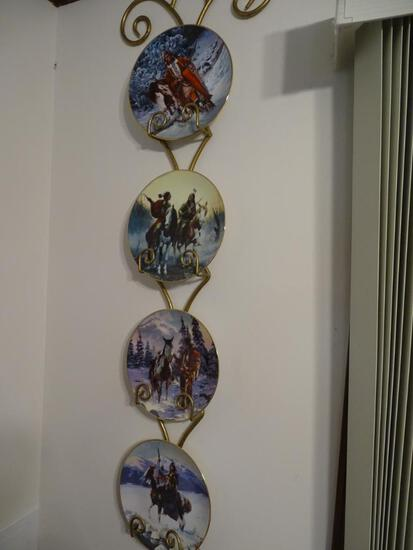 2 Sets of Plates (4 each) on wall mounts.