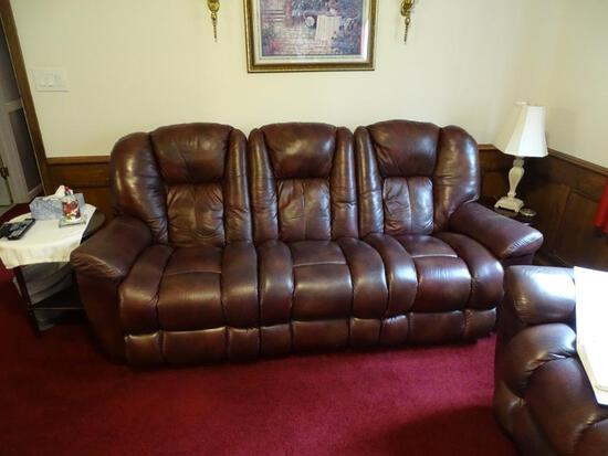 "La-Z-Boy Leather Sofa w/ 2 reclining seats-48""L x 23""H x 20""D"