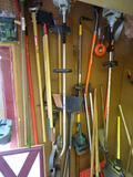 Lots of Tools! 2 Weed Whackers, 2 Post hole digger, Hedge Trimmer, Brooms, Shovels
