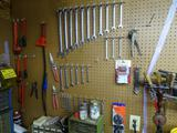 Lots of wrenches on wall!