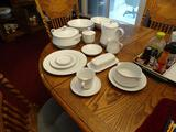 Crown Victoria Fine China-made in Japan, Lovelace, Set of 12, plus serving pieces.