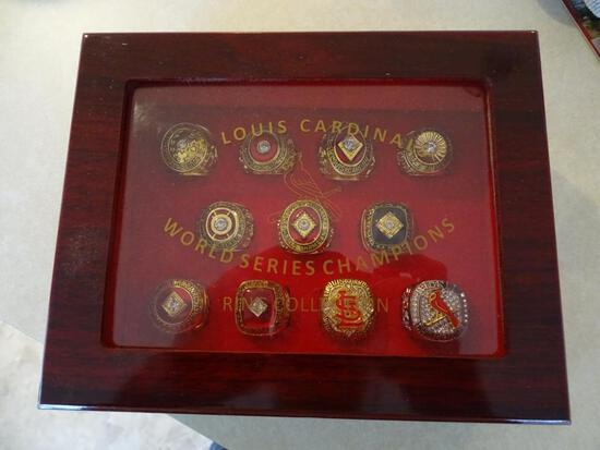 St. Louis Cardinals World Series Champions Ring Collection