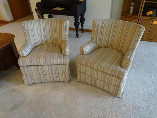 2 upholstered side chairs