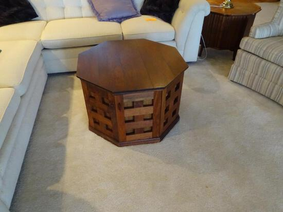 "Solid Wood Octagonal table-20"" T x 30"" W"