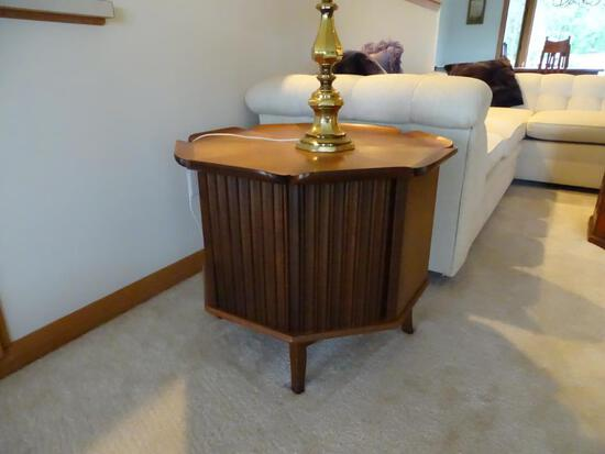 """2 Solid Wood Octagonal Side Tables, 22"""" T x 28"""" Diameter"""