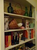 Everything on Bookshelf!-Jugs, Vases, Pitchers, books
