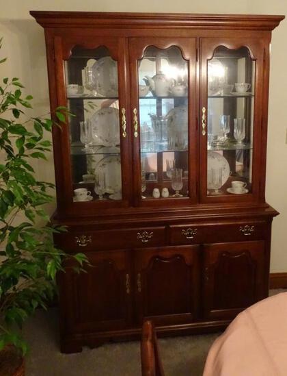 "Thomasville China Cabinet-55""L x 18""D x 80""H"