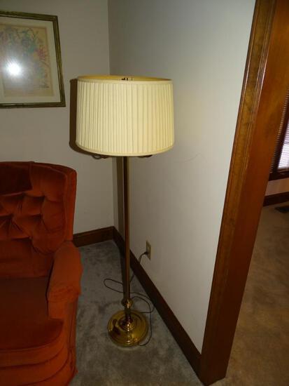 "Brass Lamp-57"" H"