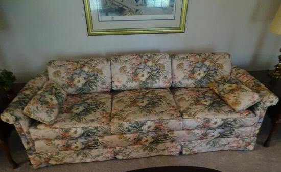 "Quilted Sofa-Highland House of Hickory-87""L x 18"" H"