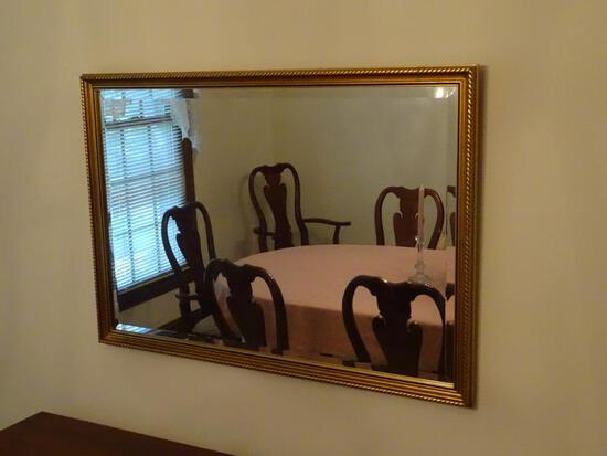 "Gold Frame Mirror-38"" L x 27"" H"