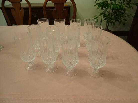 12 Crystal tea goblets